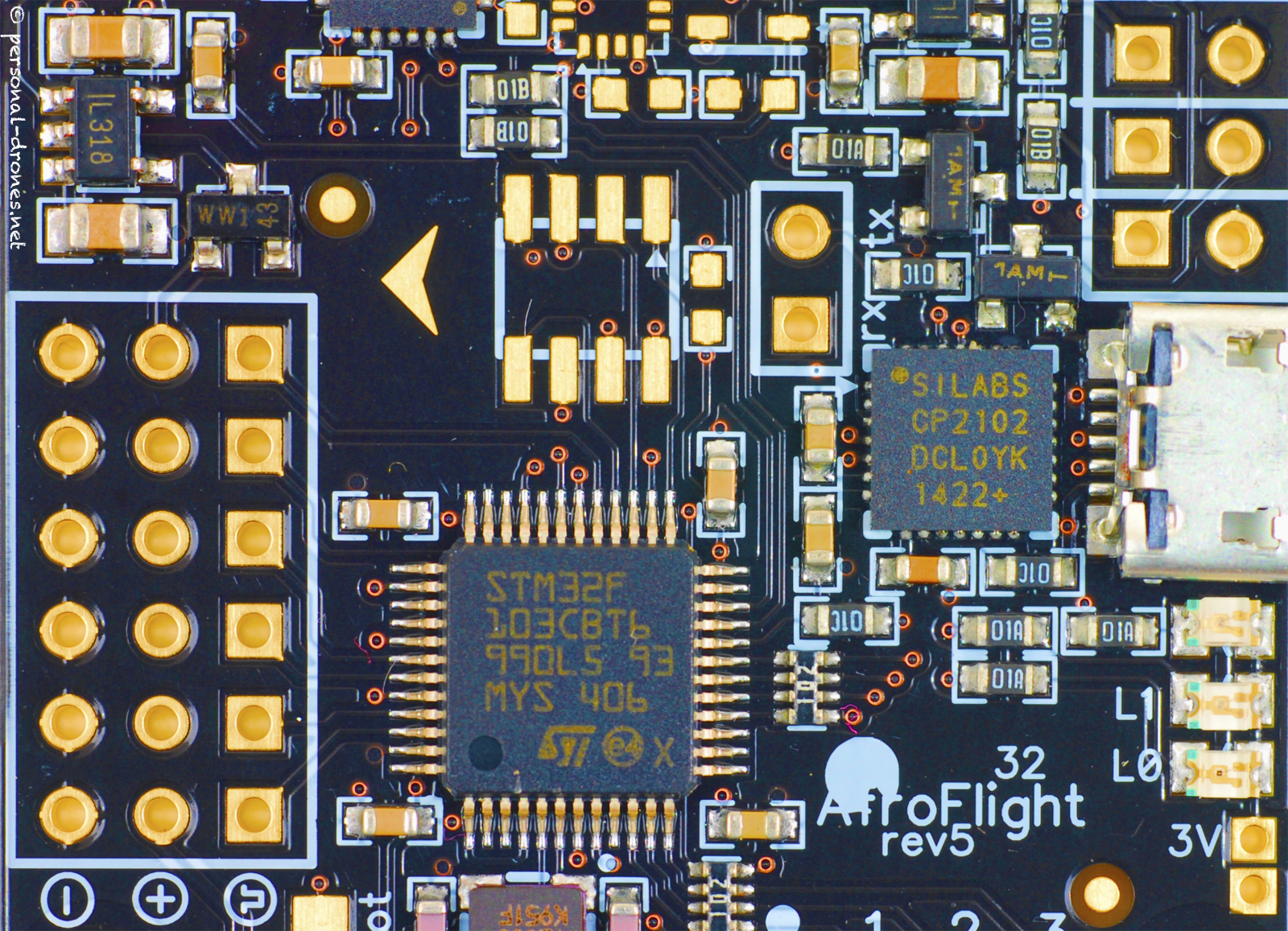 acro naze 32 flight control board images personal drones  acro naze 32 rev5 flight control board black edition close up