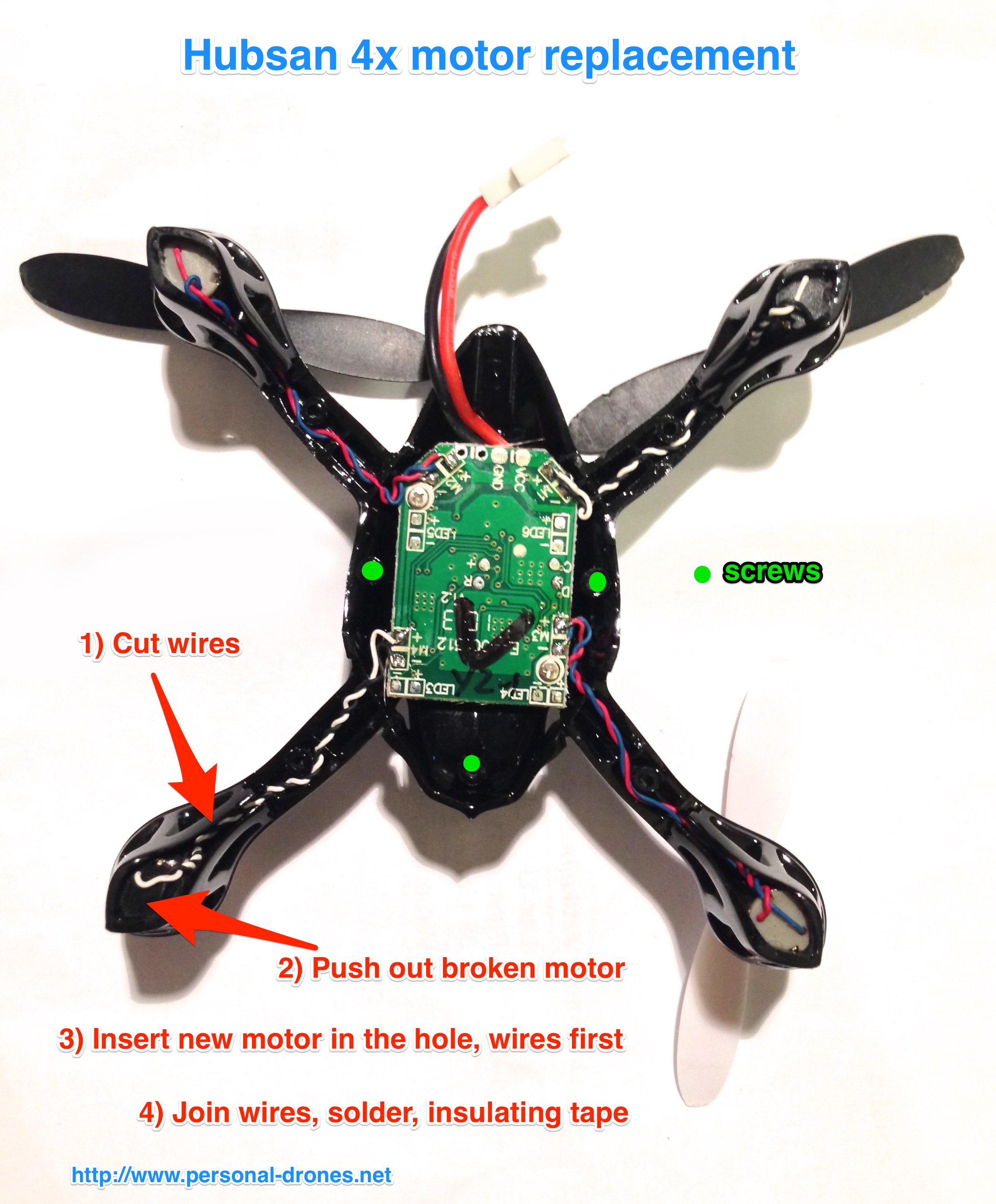 Hubsan 4x motor replacement for Hubsan x4 h107l motor upgrade