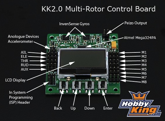 kk20 multi rotor lcd flight control board1 september 2013 personal drones  at n-0.co