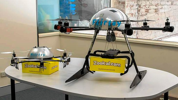 Flirtey drones will come in 2 sizes