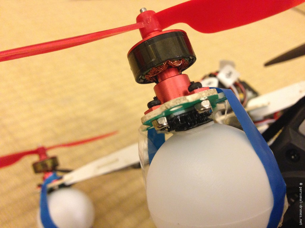 ping pong balls as landing gear for the hobbyking micro quad with kk2 board