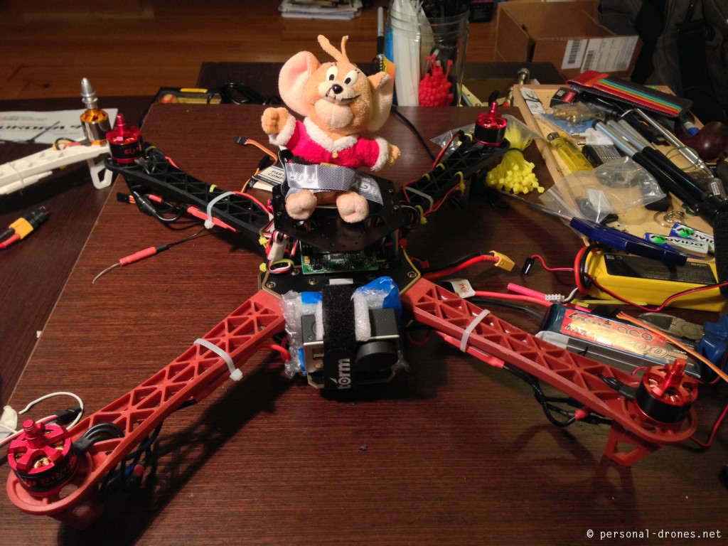 RC Timer quadcopter with KK2 control board
