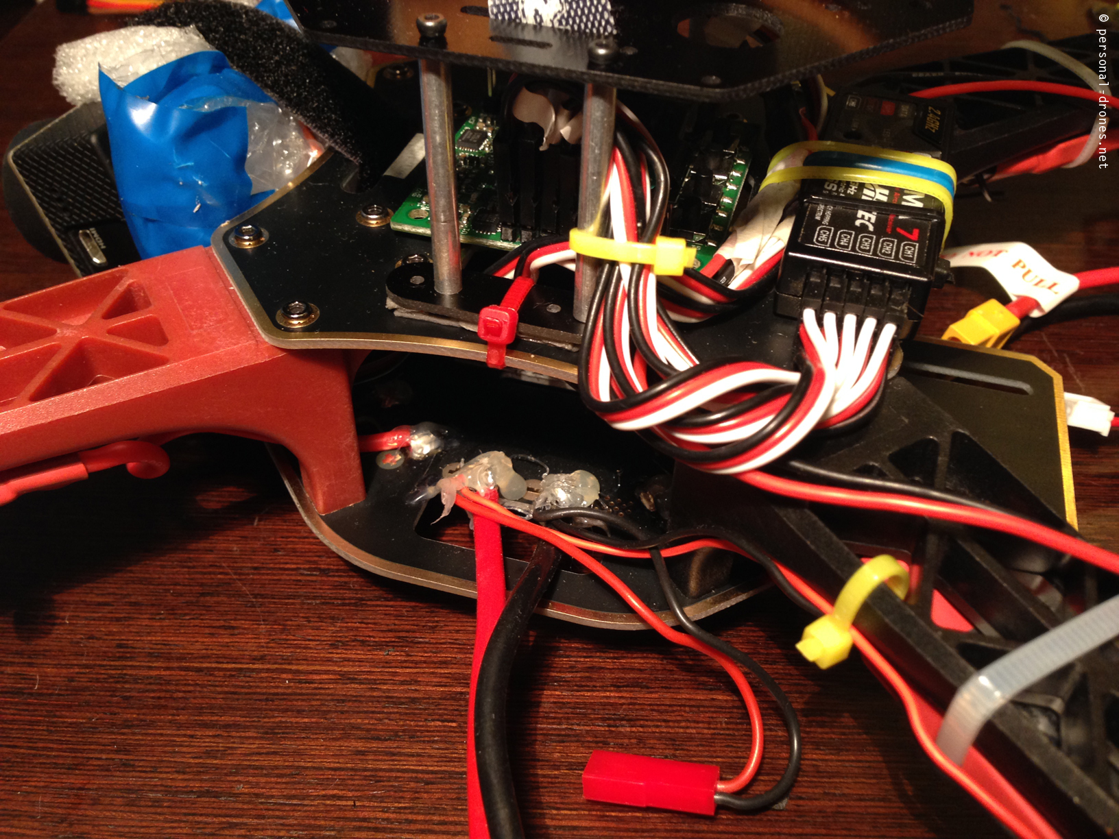 how to personal drones page 3 rc timer quadcopter kk2 control board and alware mount detail 2