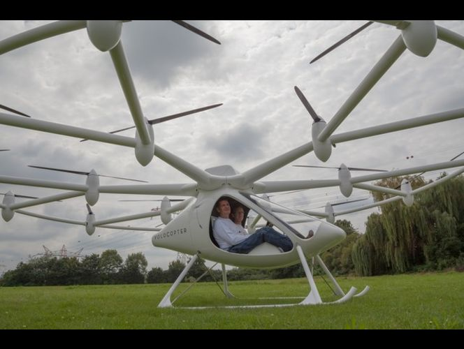 The new manned volocopter from e-volo