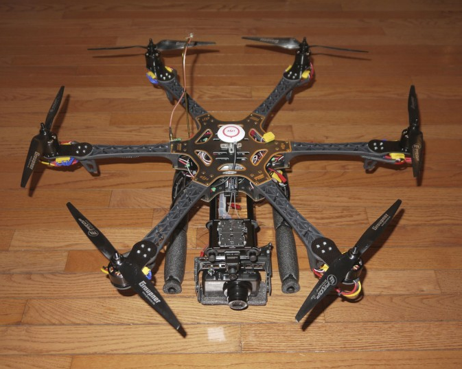 Terry and Belinda Kilby hexacopter equipped for drone photography