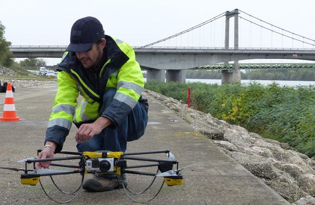 Quadcopter used for SNCF inspection