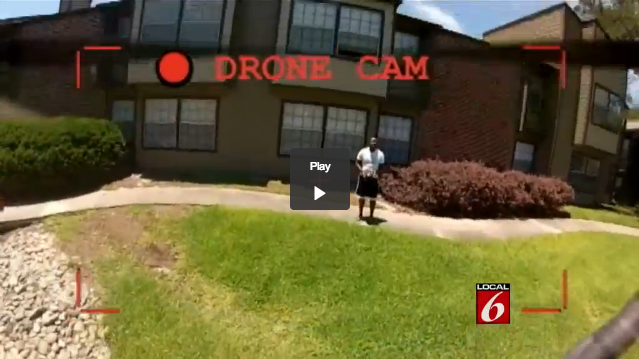Self portrait of the pilot, from the footage in the GoPro from the DJI F330 quadcopter that crashed in florida