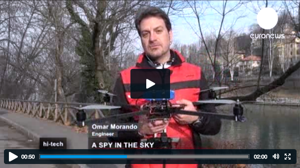 The quadcopter used in Turin, Italy, for law enforcement and surveillance purposes