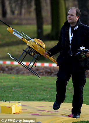 "The DHL ""Packetcopter"" quadcopter for urgent deliveries - Source"
