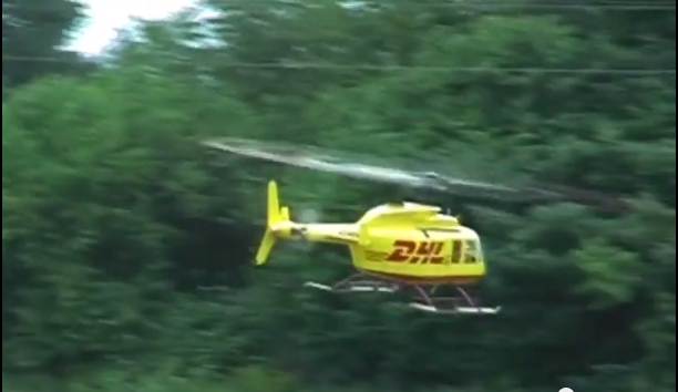 DHL unofficial helicopter - Source: screenshot from the video above