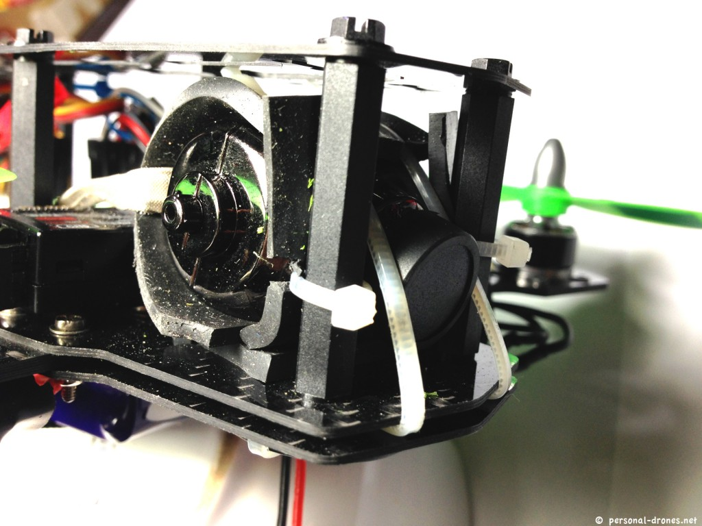 Mini H Quad - Detail of Horizon HD V3 camera mount