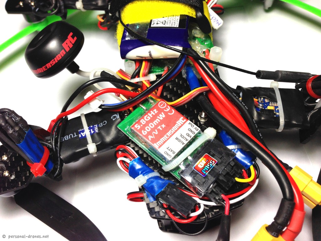 Immersion RC video transmitter on Blackout Mini H Quad