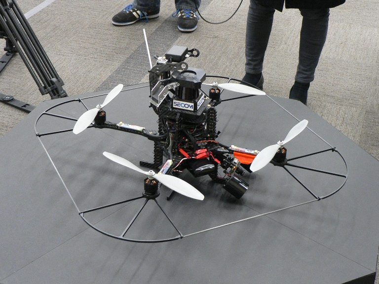 Surveillance quadcopter by Secom japanese security firm