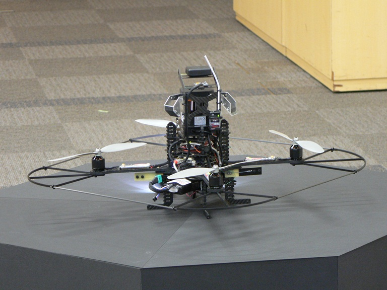 Secom surveillance drone, rear side
