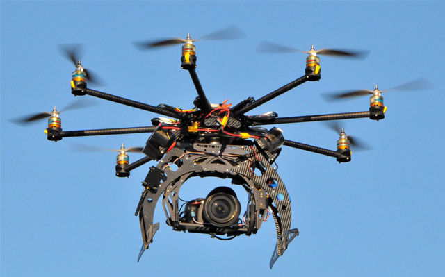Multirotor drone with camera
