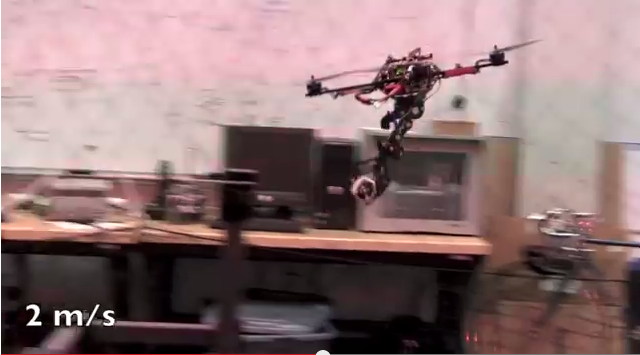 The grasping quadcopter developed at Upenn