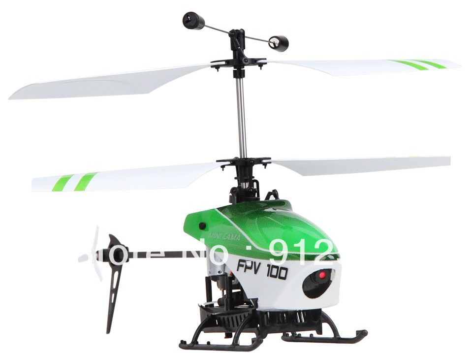 The Walkera FPV100, a micro sized helicopter with camera and video transmitter onboard