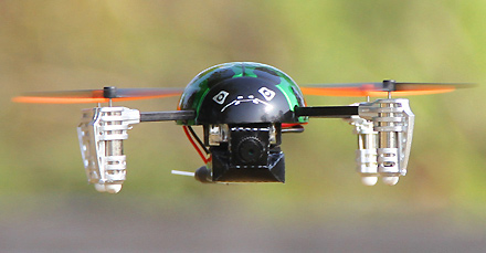 Walkera Ladybird with onboard camera for FPV
