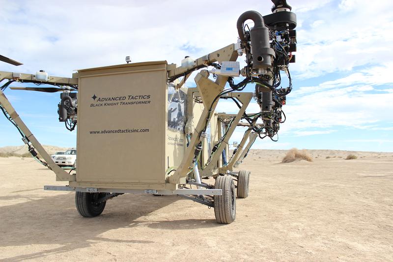 The Black Knight Transformer technology demonstrator in flight configuration.