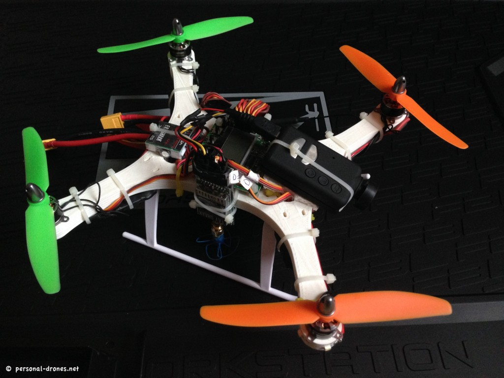 Fully assembled mini quadcopter for FPV