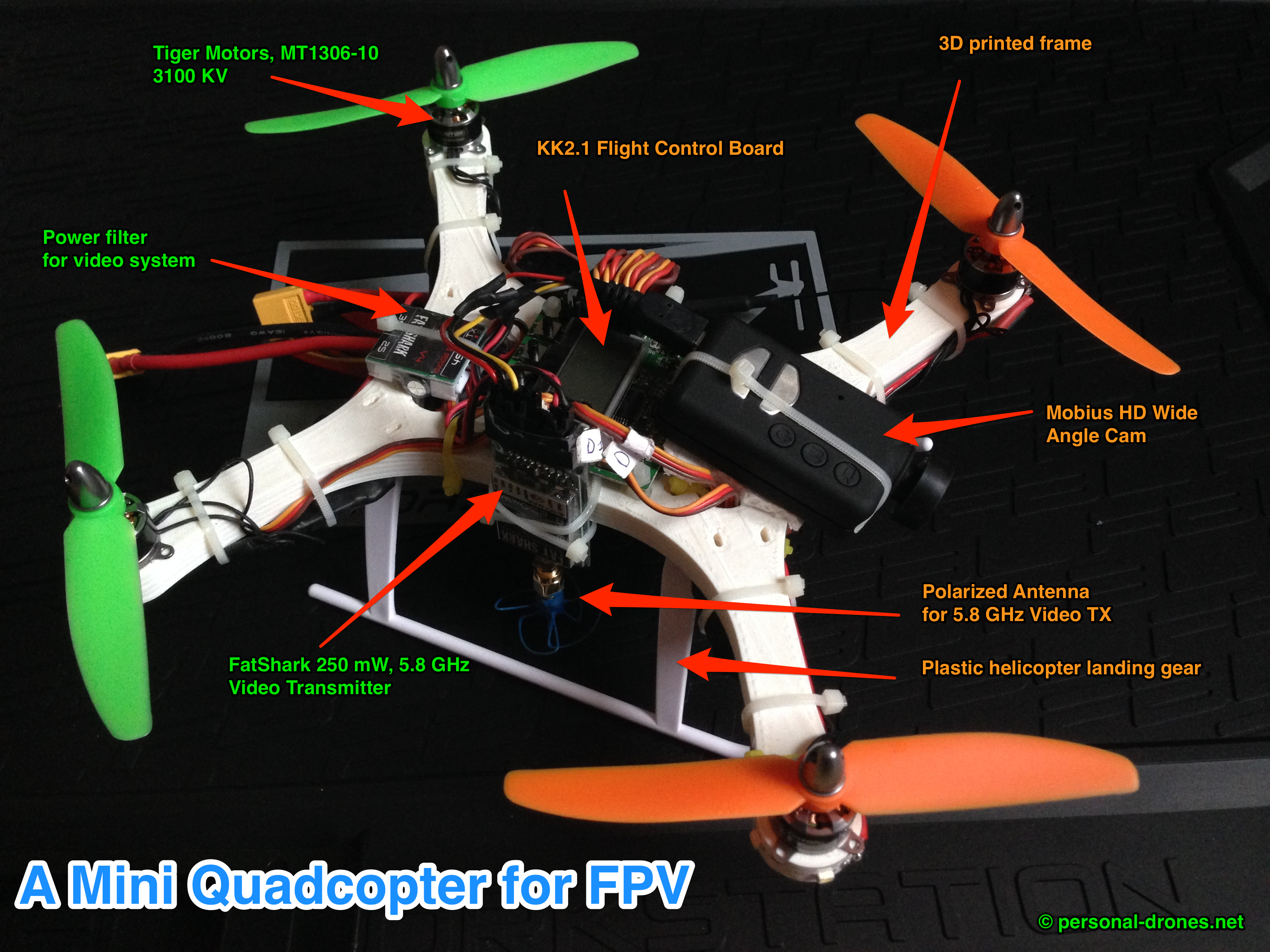 A Manually Assembled Mini Quadcopter For FPV