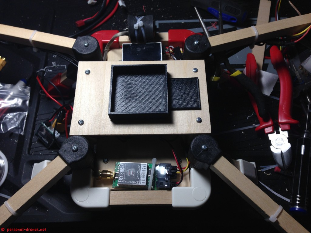 Quadlugs KK2 board enclosure. Still not fiixed to the deck