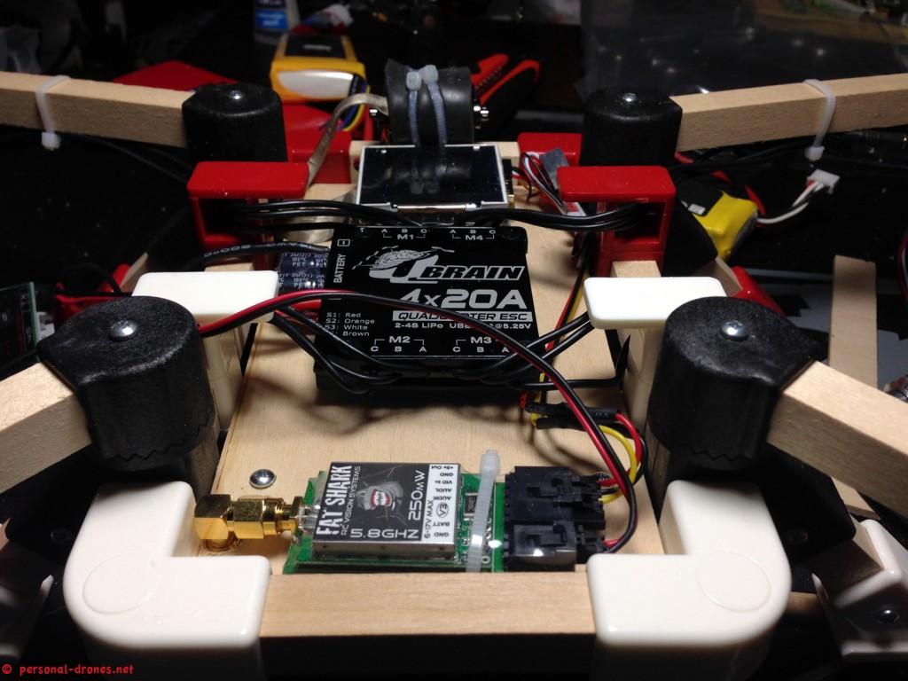 Quadlugs 480 mm quadcopter FPV setup