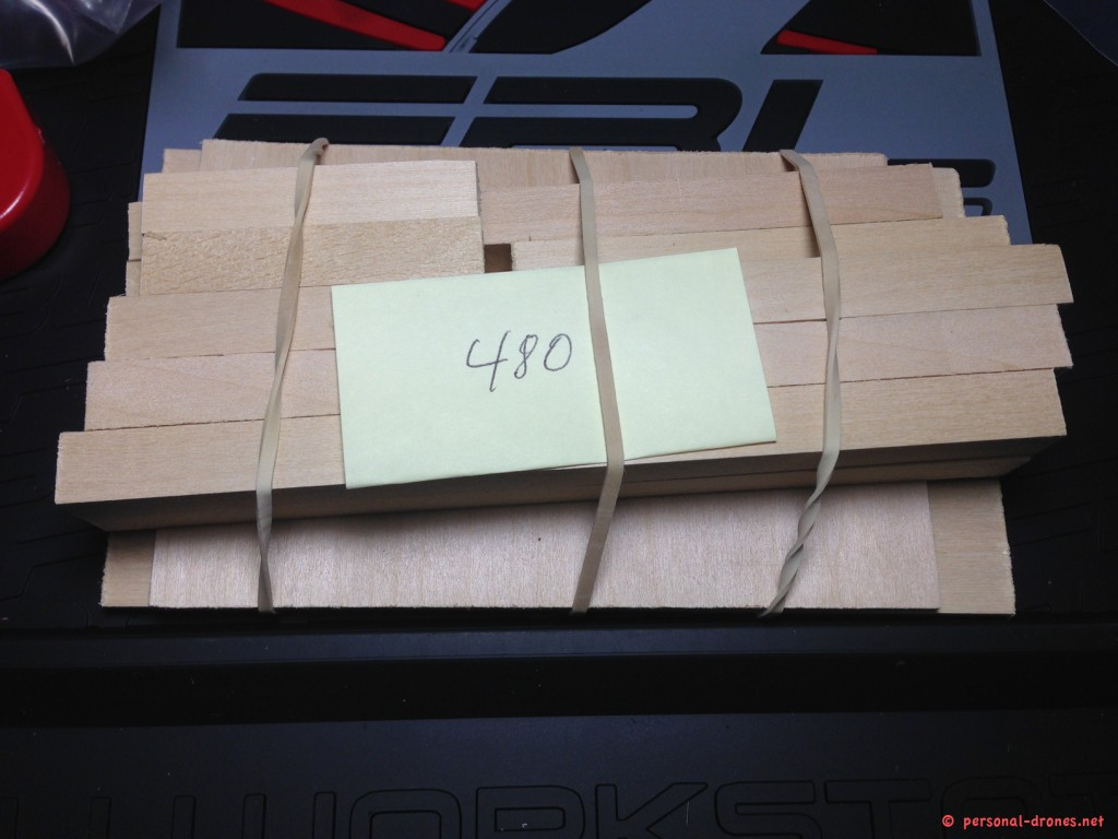 Wood parts for Quadlug 480 frame