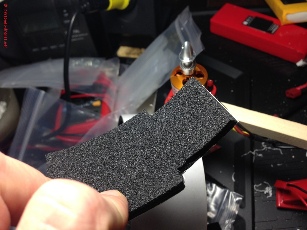 Vibration absorbing foam for the KK2 enclosure