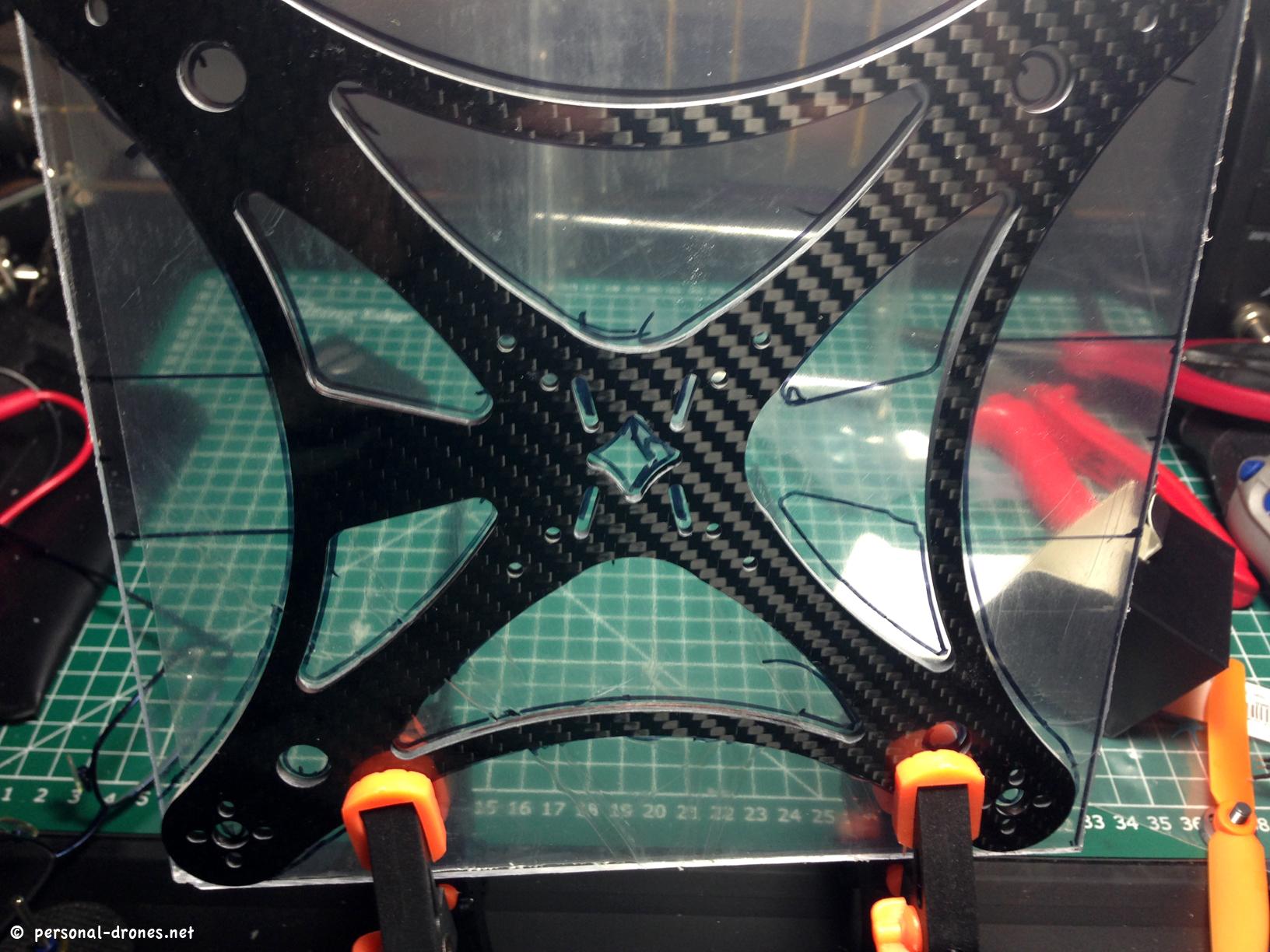 Plexiglas Mini FPV quadcopter experimental build based on the ...