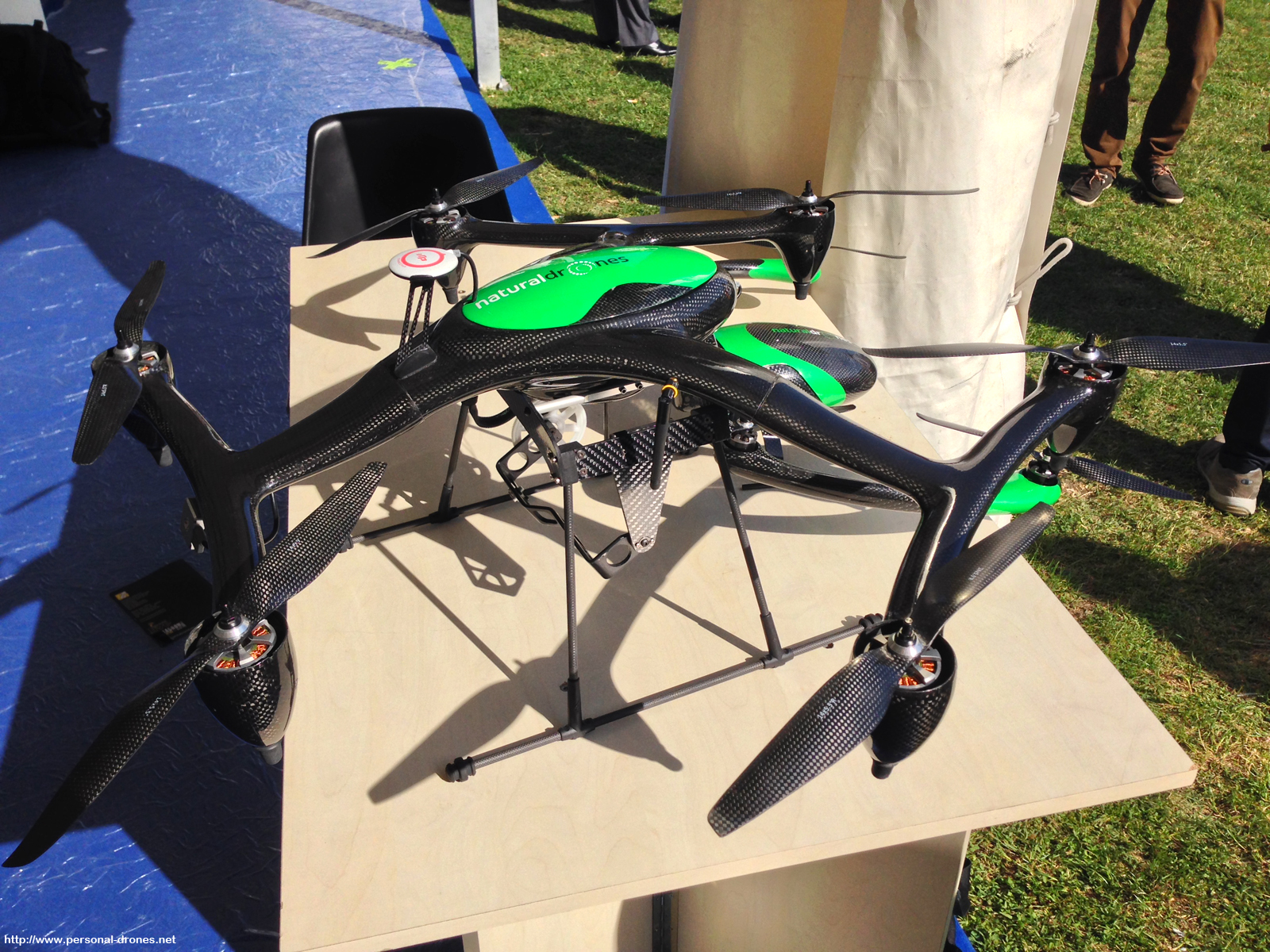 The Natural Drones hexacopter. Mind that below the hexa, is the quad, this might be confusing in the picture