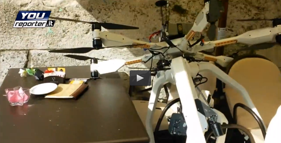 Here's the multirotor, a big dodecacopter