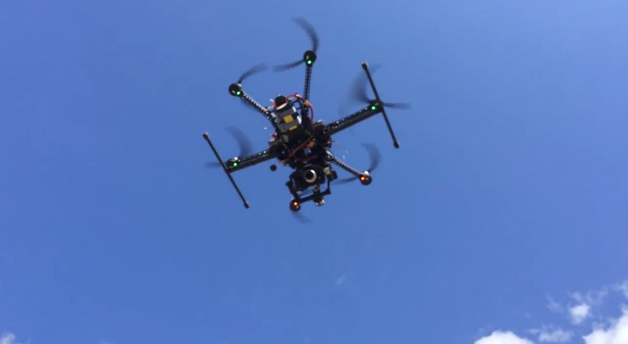 The hexacopter used for the third person view experiment
