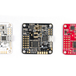 """Naze 32 board. Black and red are the Acro version, white is thje """"full"""" version with barometer"""