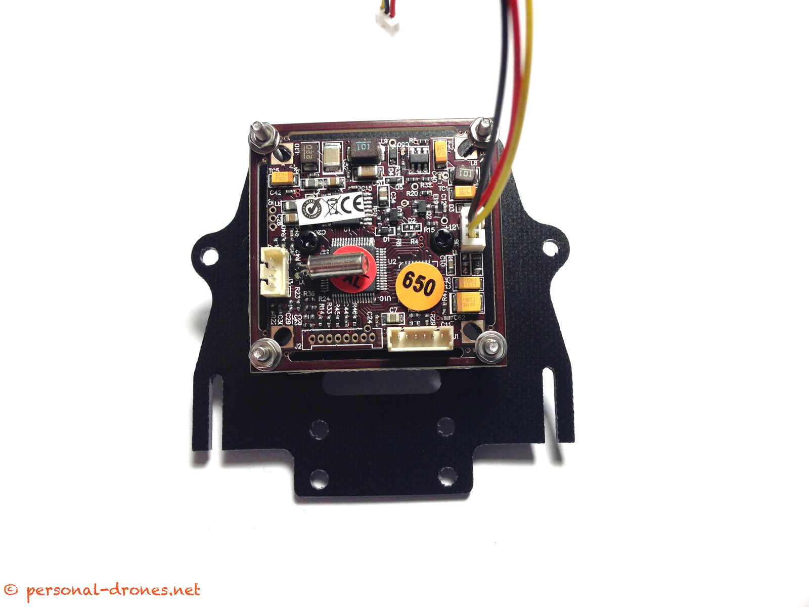 CCD camera on FlyXcopter front mount