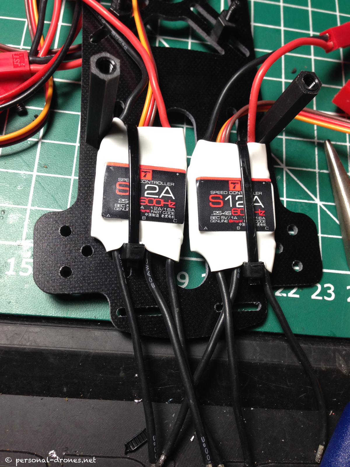 Securing the ESCs on the FlyXcopter frame