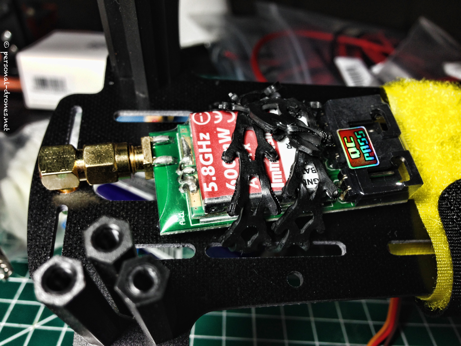 ImmersionRC 600mW video Transmitter on FlyXcopter FlyX-Mini quadcopter