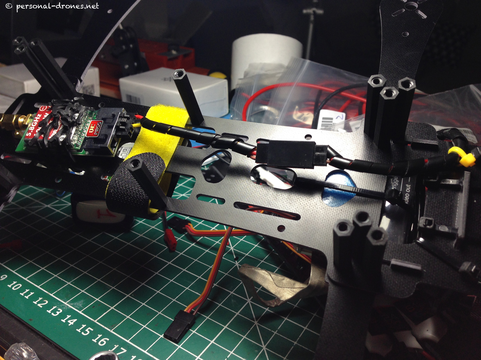 FPV system on the FlyXcopter upper plate