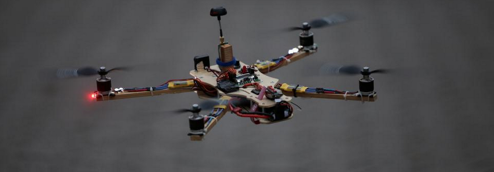 A self made quadcopter in search for the right and safe spot to fly