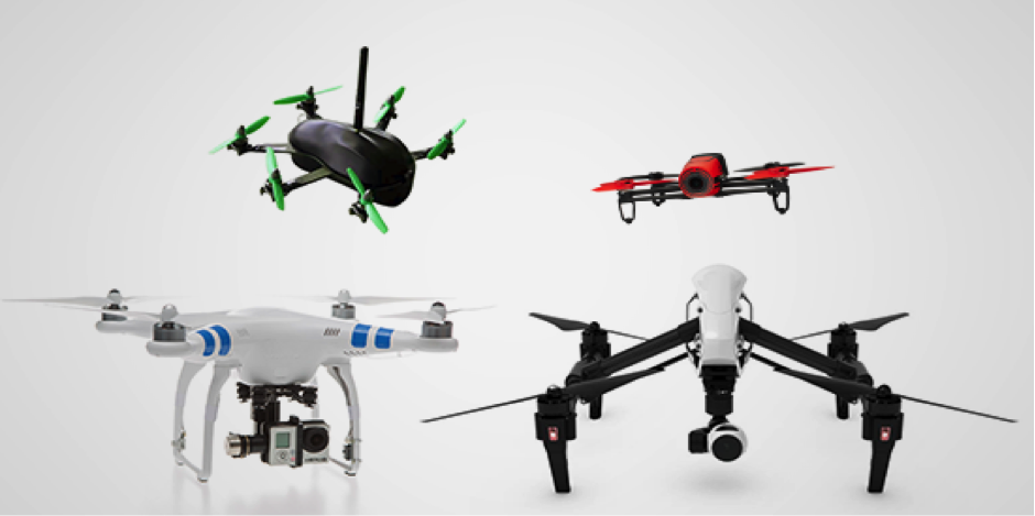 different drone models